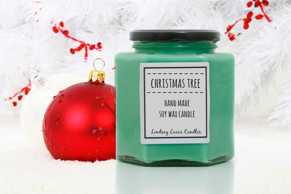 christmas tree scented candle winter scent strong scented