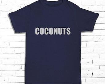 Coconuts T-shirt - Men's Fruit Tee - Tropical Shirt for Him - Beach Tee - Coconut Shirt - Vacation Shirt - Sweet Shirt - Beach Time Tee