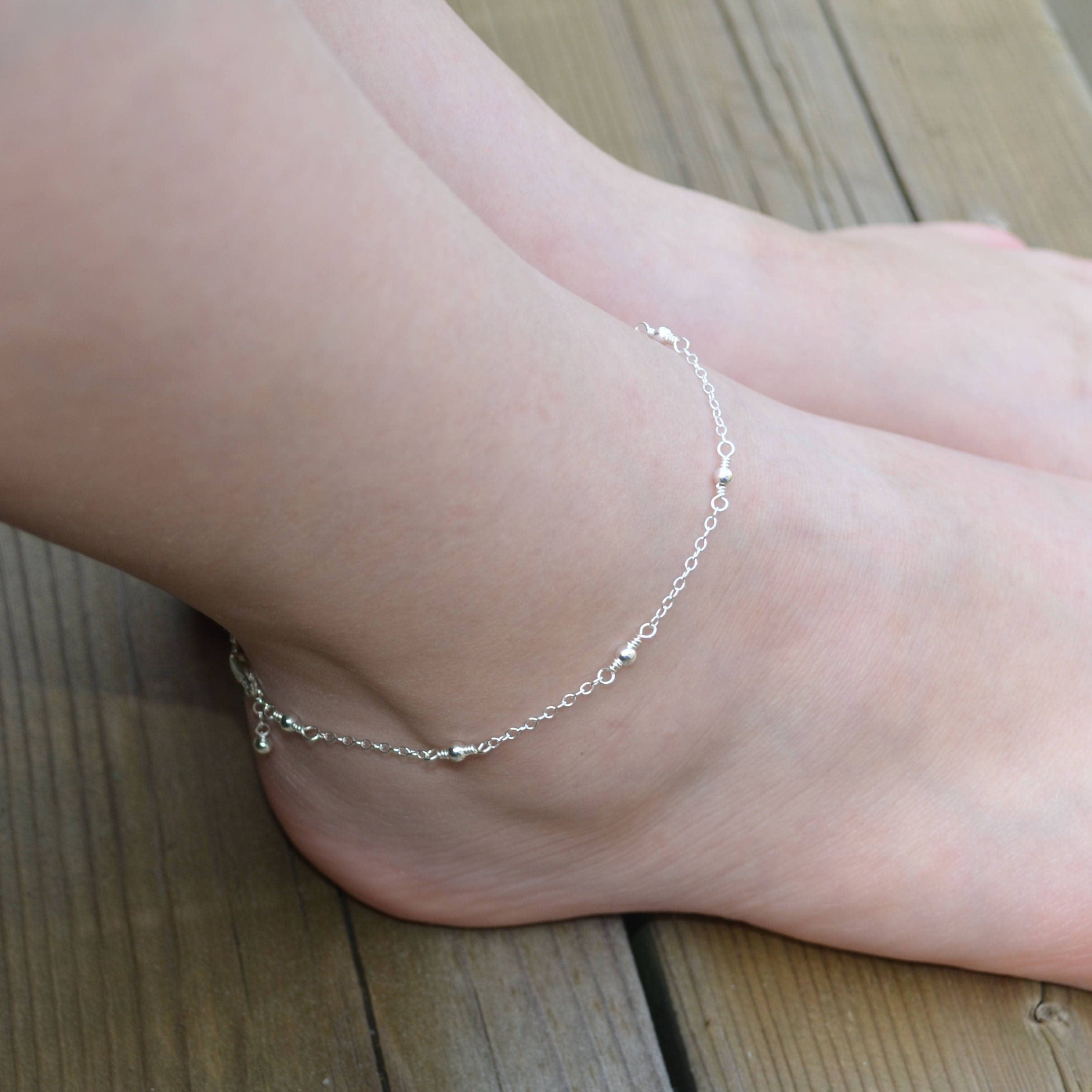 ankle anklet fullxfull personalized chain simple sterling silver bracelets swarovski bracelet p heart bridal il birthstone