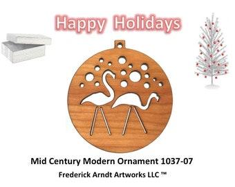 1037-7 Mid Century Modern Christmas Ornament