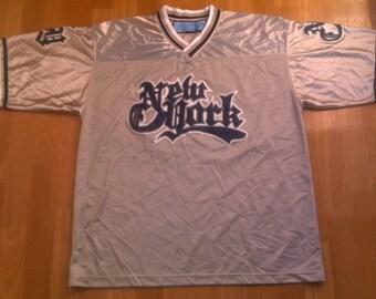 New York t-shirt vintage lowrider jersey vintage LA hip hop t-shirt 90s hip-hop clothing Chevrolet Impala Chicano, gangsta rap size M Medium