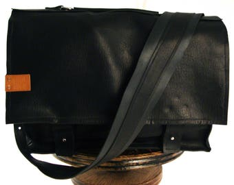 Large Black Messenger Bag