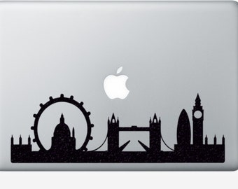London City Skyline Velvet Decal