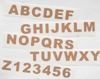 kraft alphabet stickers