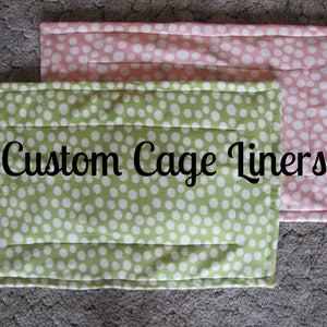 Custom Cage Liner with U-Haul Lining, C&C Cage Liner, Midwest Cage Liner, Guinea Pig Cage Liner, Hedgehog, Ferret | Made to Order