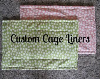 Custom Cage Liner with U-Haul Lining, C&C Cage Liner, Midwest Cage Liner, Guinea Pig, Hedgehog, Ferret, Guinea Pig Accessories
