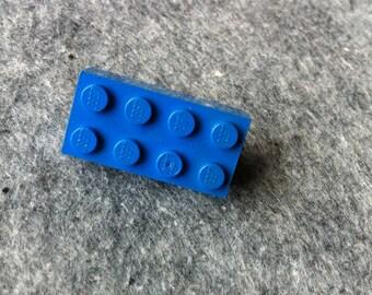 Lego blokje broche // blauw // Made in Rotterdam