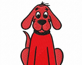 Clifford the Big Red Dog Embroidery Design