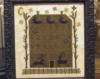Up on the House Top by Carriage House Samplings Counted Cross Stitch Pattern/Chart