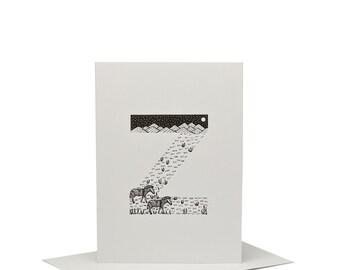 Z for Zebra - Letterpress Print