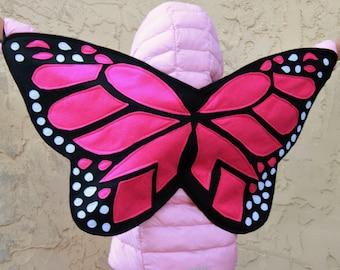 Butterfly Wings - Monarch Butterfly Costume - Felt butterfly wings - Monarch butterfly Halloween Costume