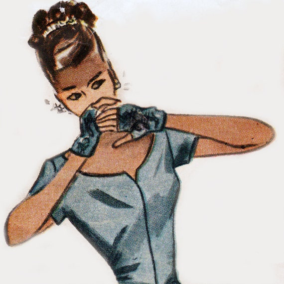Vintage Sewing Pattern Ladies 1940\'s Fingerless Gloves