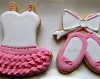 Pretty Ballerina cookies 2 dozen