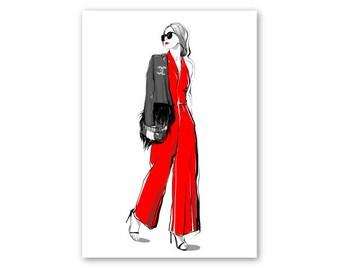 ART PRINT fashion sketch, fashion sketch wall art, Chanel inspired, fashion sketch print, Fashion wall art, paris art, illustration prints