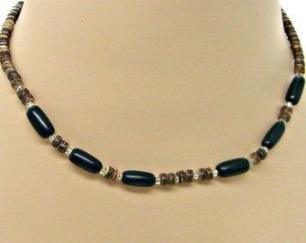 Surfer Style Beach Necklace 4-5mm Coconut Shell and Buli Beads Approximately 18 21 or 24 Inches 7070