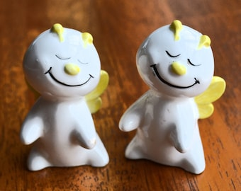 Vintage Anthropomorphic Salt and Pepper Shakers made in Japan