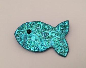 Fishy pin, fish brooch, fish jewelry, fish magnet, fish ID badge holder