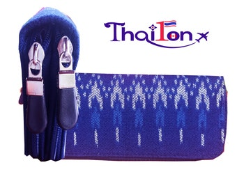 Brand new Thai Indigo woman wallets-purses