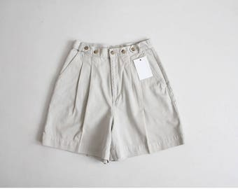 beige field shorts | banana republic shorts | high waist kaki shorts