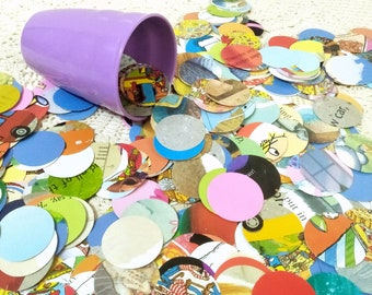 Storybook Confetti, Paper Scatters, Recycled Table Scatters, Party Table Decorations, Mixed Media Craft Supply, Child Party Table Sprinkles