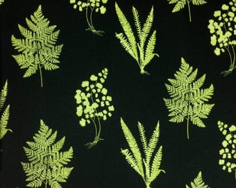 Botanical Print Cotton Blend Fabric - 57 Inches Wide