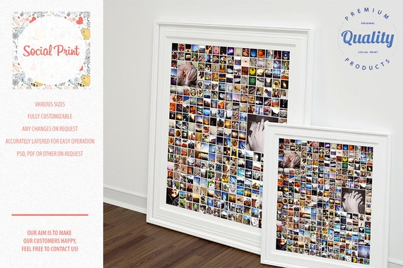 INSTANT DOWNLOAD 365 photo poster grid InDesign Photo poster
