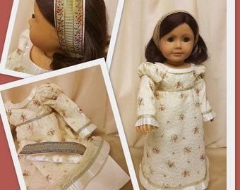 Party robe et bandeau vers 1824 - s'adapte à American Girl Doll Josefina Montoya