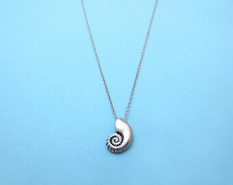 Ariel voice, Silver, Seashell, Necklace, Shell, Antique, Ariel, Jewelry, Birthday, Friendship, Mom, Sister, Gift, Jewelry
