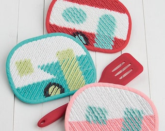 Pattern: Snack Shack Hot Pads by Atkinson Designs