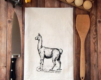 llama Flour Sack Tea Towel