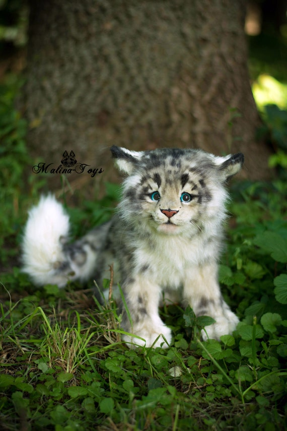 Made To Order100 Handmade Snow Leopard Cub