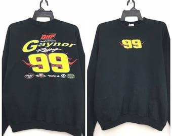 Rare!! Vintage 90's Gaynor Racing Sweatshirt Pullover Size 2XL IlBGh6