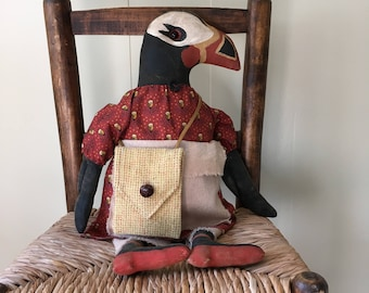 Rosie the Primitive Puffin Doll