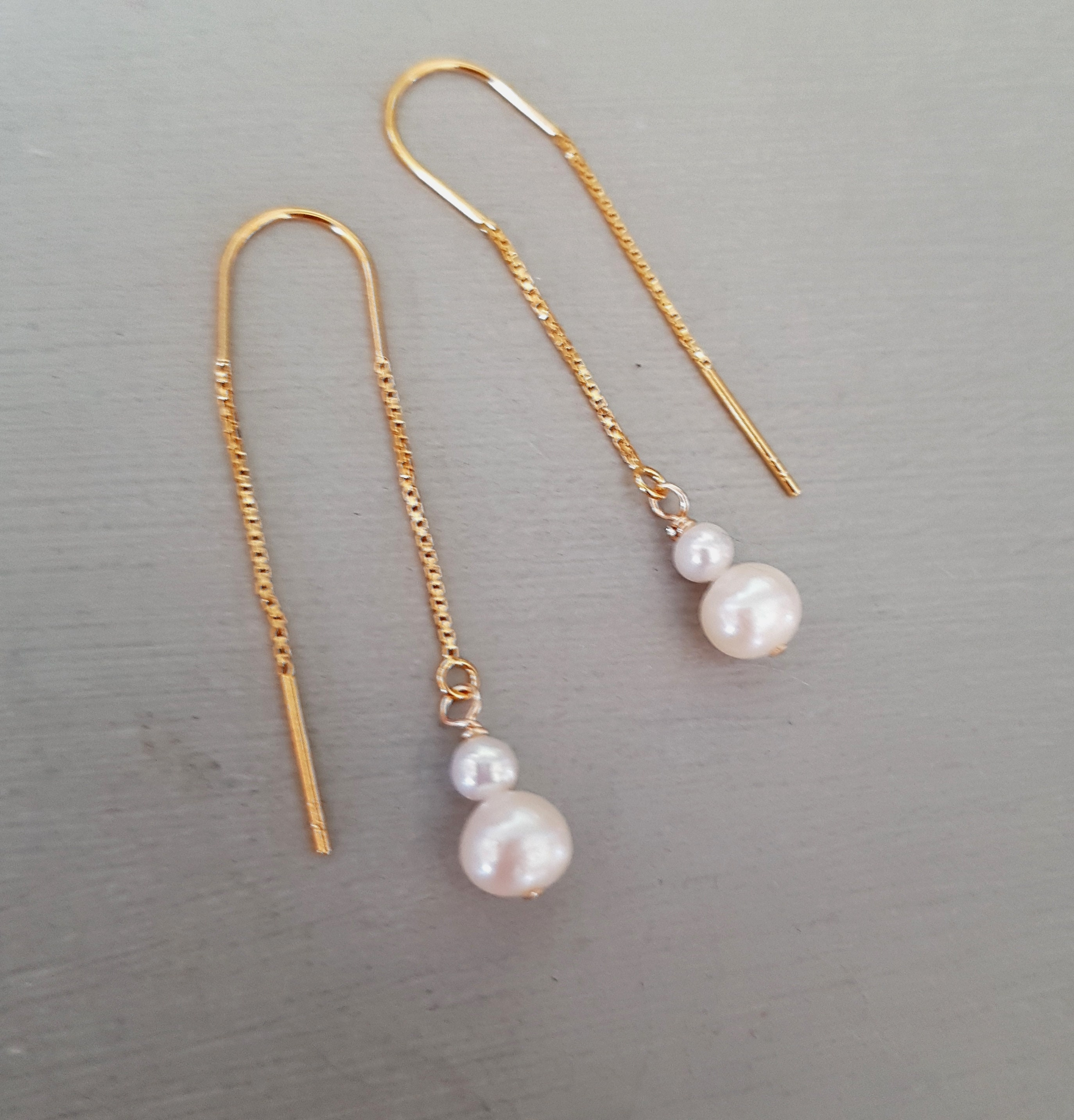 earrings pearl diy drop steps real