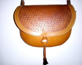 Grain leather handbag, Model Katya