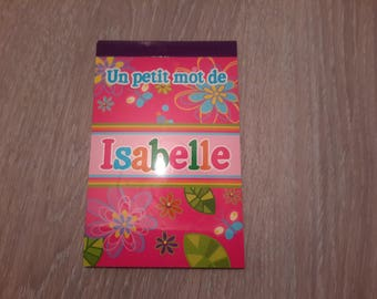 book a few words of Isabelle to leave a message