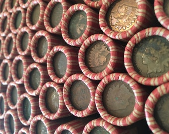 Full INDIAN HEAD PENNY Roll Cents Old Rare Vintage Estate U.S. Coin Collection Currency Money Fast Shipping