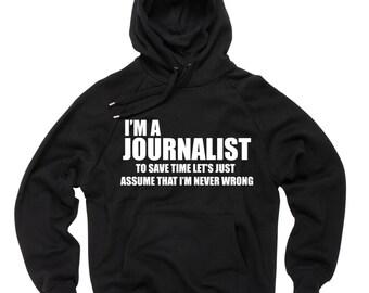 Journalist Hoodie Sweater Sweatshirt Journalism Hoodie Journalist Funny Hoodie