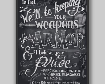 Critical Role - Keeping Your Pride - Print - Dungeons and Dragons Typography