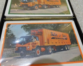 C873)  Vintage Trucker Playing Cards Huber & Huber Motor Express  Remembrance Playing Cards