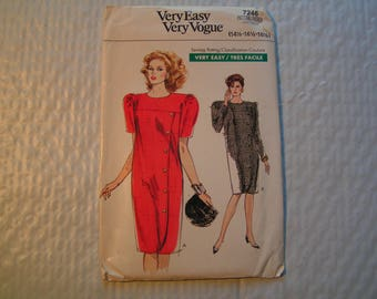 Vintage Vogue Pattern 7246 Very Easy Miss Half Size Dress