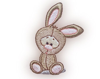 Cute Bunny Rabbit Embroidery Design