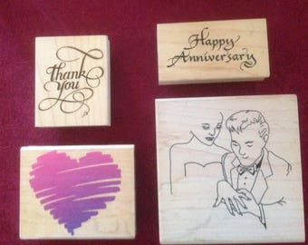 Rubber Stamp Collection-Stamp Happen, Rubber Stamped, Posh Impression and The Stamping Bug