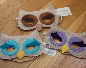 OWL - Handmade Children's Felt Mask