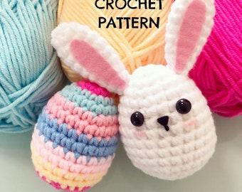 CROCHET PATTERN Easter Bunny and Egg / Amigurumi / English