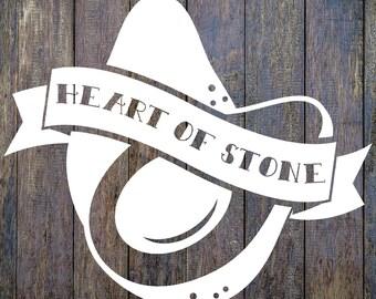 Heart of Stone Avocado Veggie Vinyl Decal Sticker