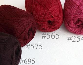 Wool yarn set for knitting, crochet-100% natural wool yarn