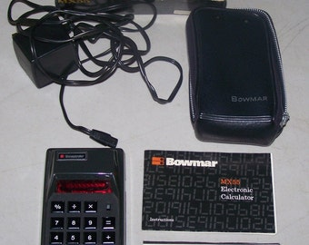 Vintage 1970's Bowmar MX55 Electric Calculator