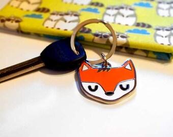 Fox Keychain, Fox Bag Charm, Fox Key Fob, Fox KeyRing, The Fantastic Fox KeyRing