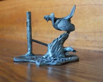 Rawcliffe Pewter Wild Turkey, 1980